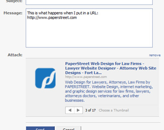 Facebook's Attached Links and Page Previews - Why's my site showing