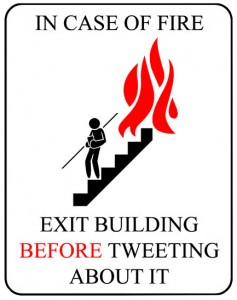 In Case Of Fire Tweet