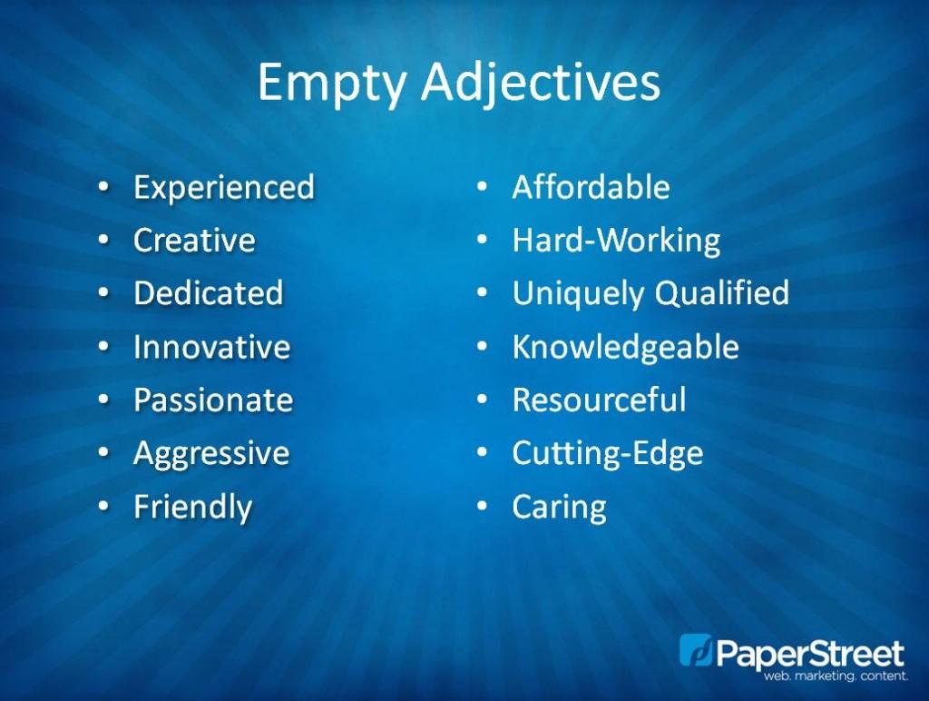 Empty Adjectives
