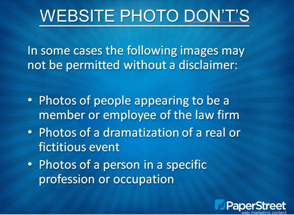 Photo No-No's