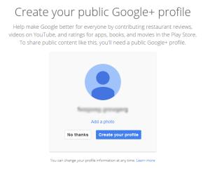 Создайте свой профиль Google+