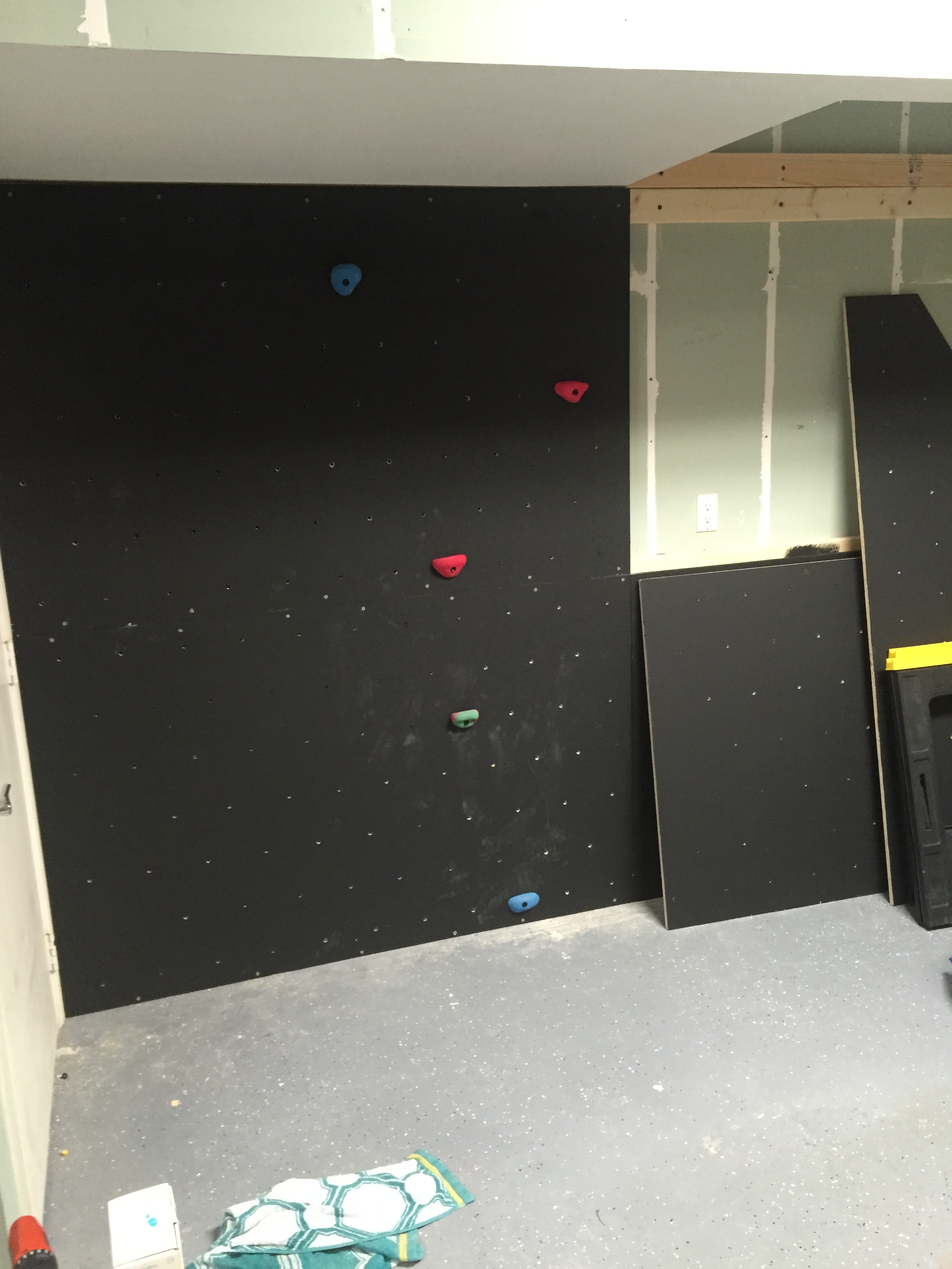 How To Build A Rock Climbing Wall For Kids In The Garage