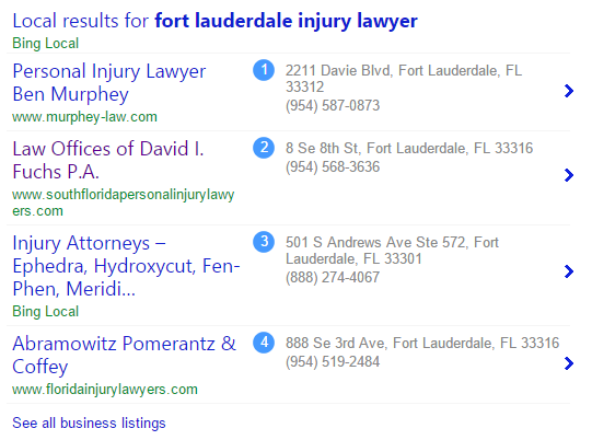 ft. lauderdale local lawyer bing search