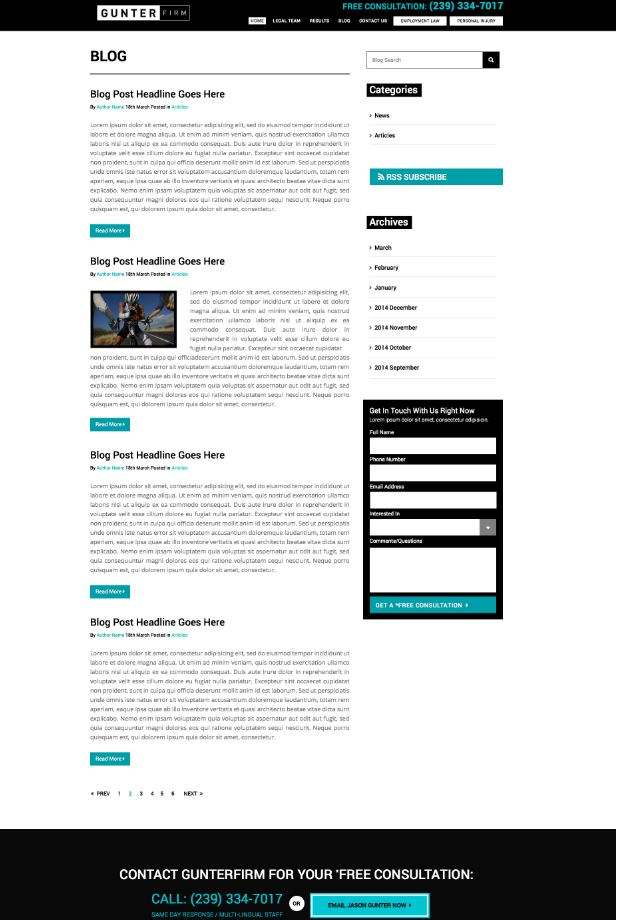 The subpage designs follow the branding guidelines of the home page.