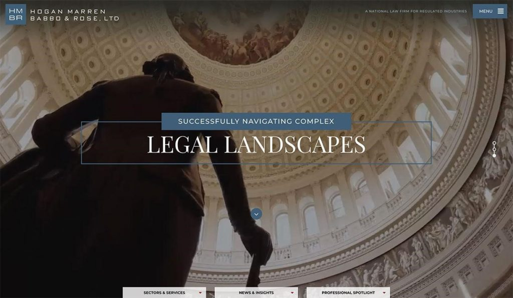 Video Background Feature on Law Firm Websites
