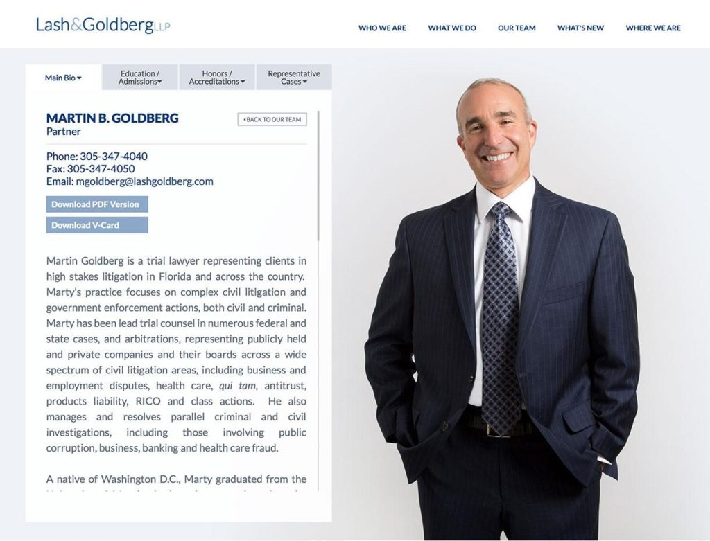 Attorney Biographies - Law Firm Web Design