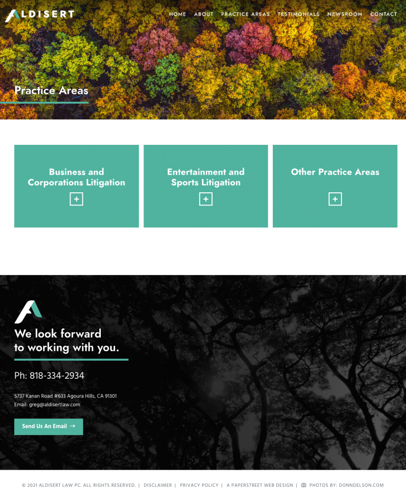 aldisertlaw-practice-areas screenshot