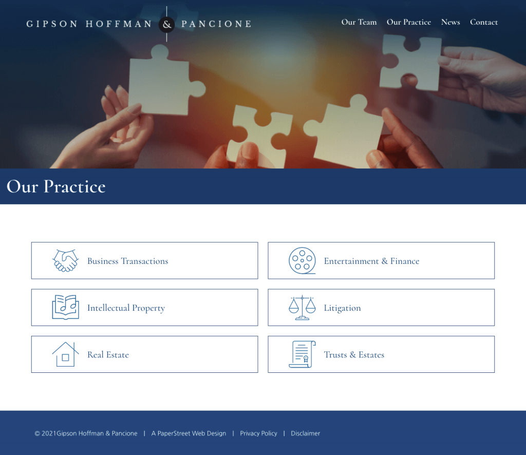 ghplaw-our-practice screenshot
