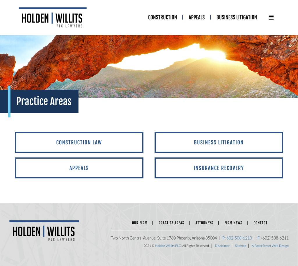 holdenwillits-practice-areas screenshot