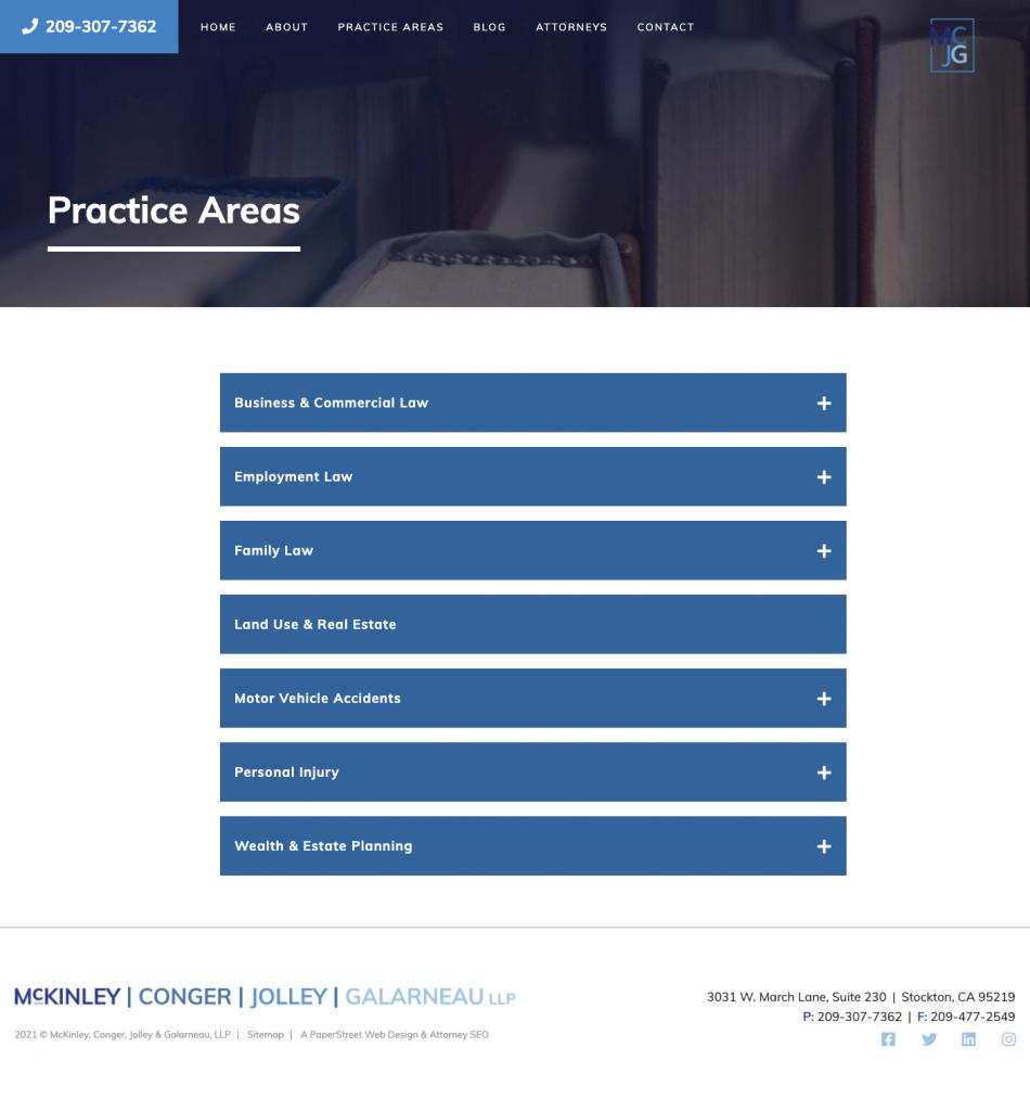 mcjglaw-practice-areas screenshot