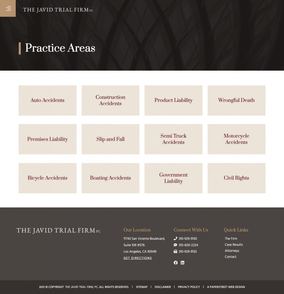 thejtf-practice-areas screenshot