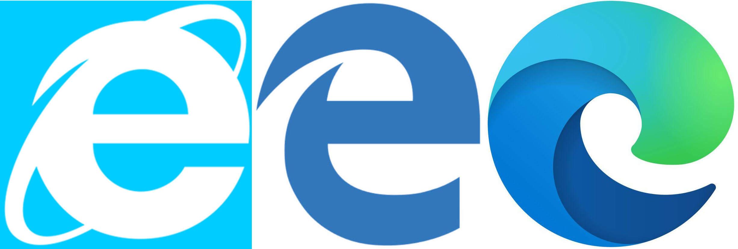 Microsoft browser logos