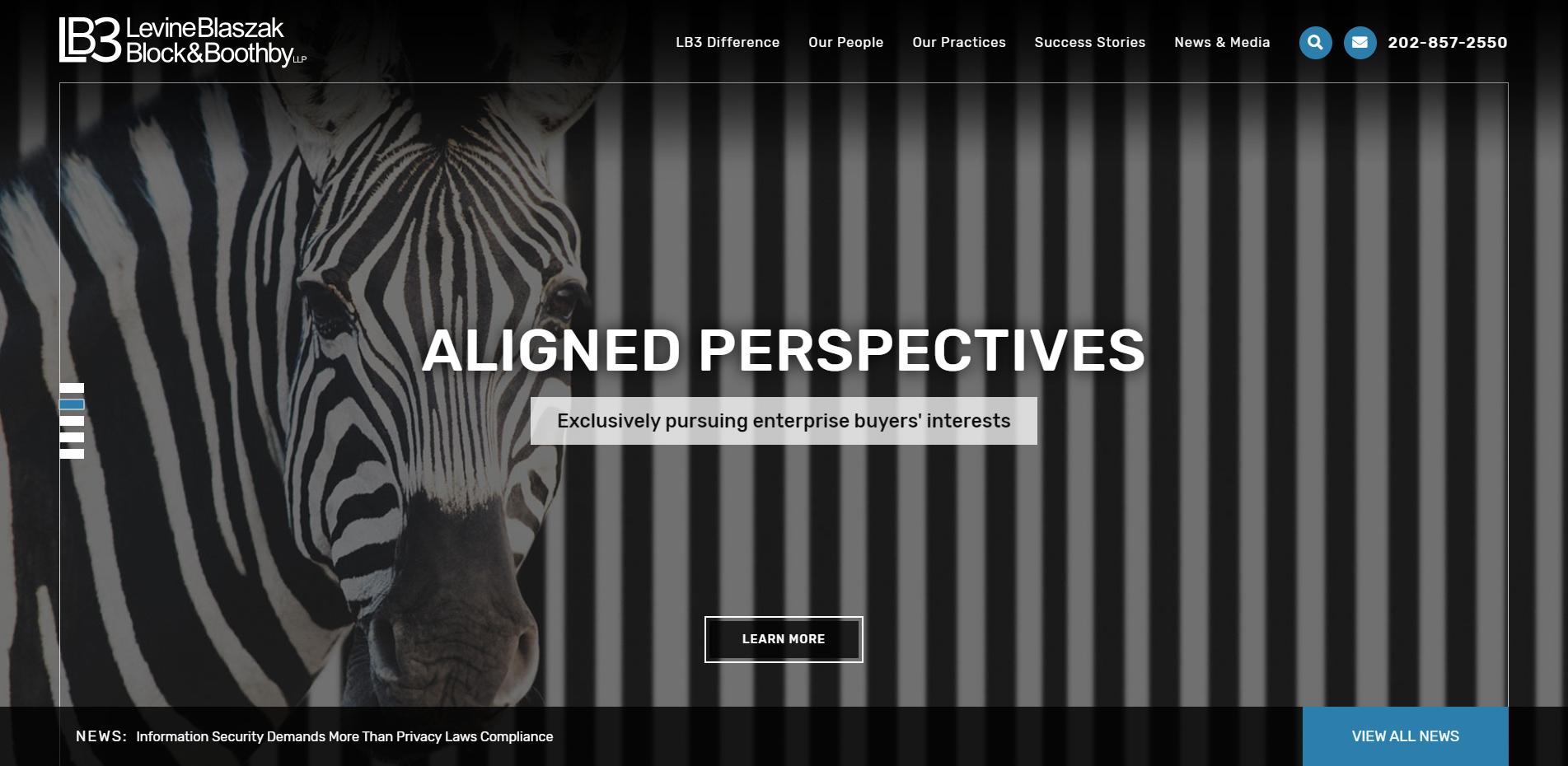 lb3law.com homepage