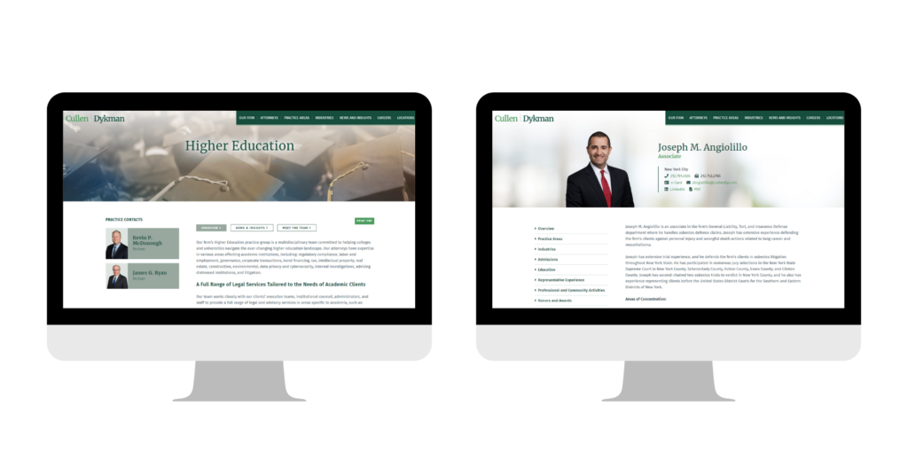 Cullen and Dykman Law Firm Web Design