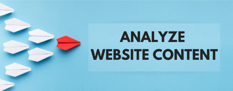 how to analyze competitor website content