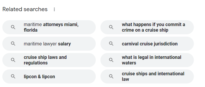 Related Search keywords