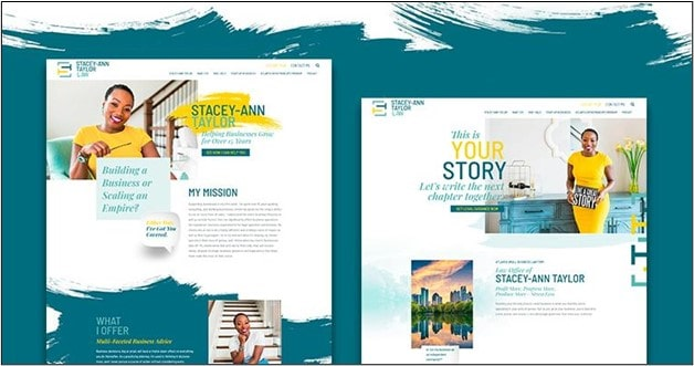 Staceyanntaylor homepage screenshot