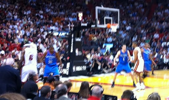 Basketball - Thunder versus Heat