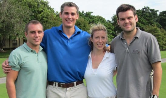 Golf - Brad, Pete, Elyssa and Andrew