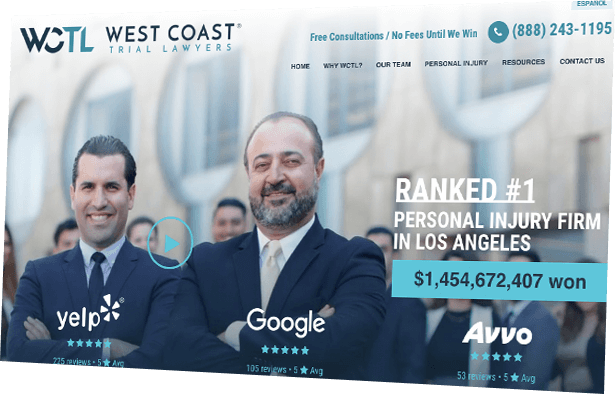 West Coast Trial Lawyers screenshot