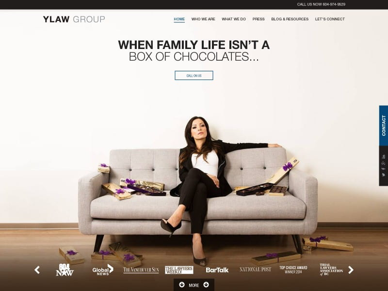 Award Winning, Best Law Firm Website Design - PaperStreet Portfolio