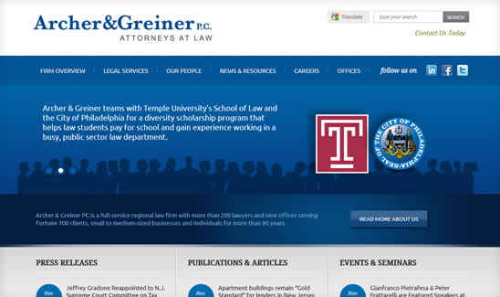 Archer & Greiner, a full-service New Jersey firm with 200+ attorneys and 200+ paralegals