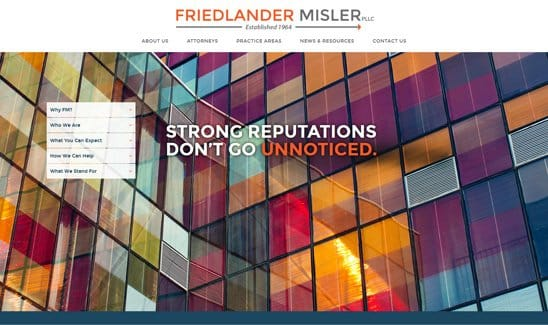Website thumbnail link to Friedlander Misler