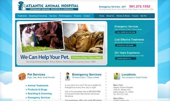 Atlantic Animal Hospital site thumbnail