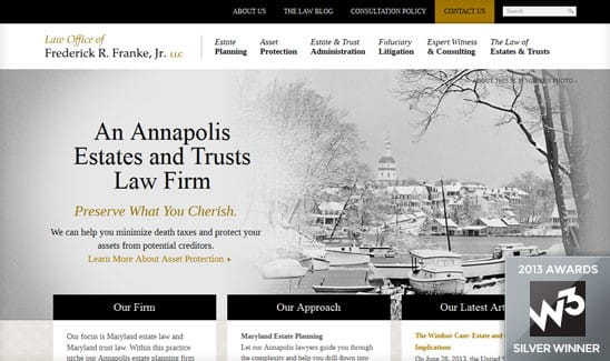 Law firm website design inspiration best web designs of for Best architecture firm websites