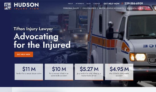 The Hudson Injury Firm site thumbnail