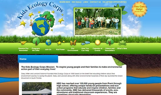 Kids Ecology Corps site thumbnail