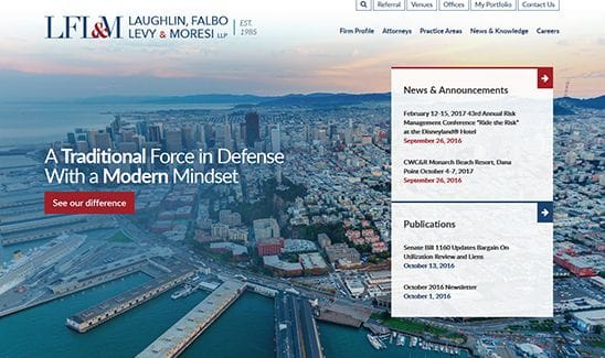 Laughlin, Falbo, Levy & Moresi LLP site thumbnail
