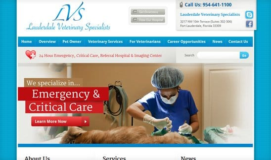 Lauderdale Veterinary Specialists site thumbnail