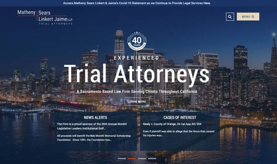 Matheny Sears Linkert & Jaime, LLP site thumbnail