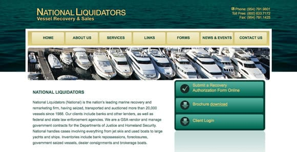 National Liquidators, the world's largest boat and yacht liquidator
