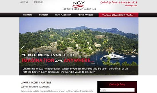 Neptune Group Yachting site thumbnail