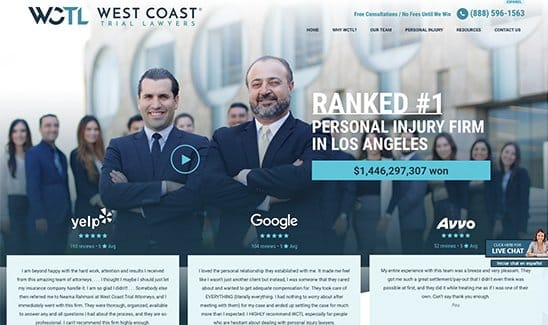 West Coast Trial Lawyers site thumbnail